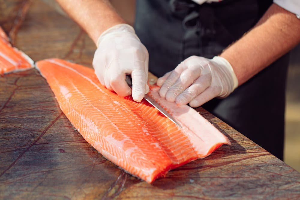 sashimi cutting technique