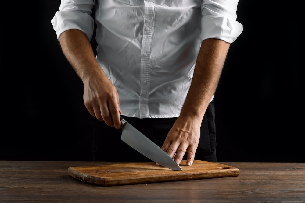 parts of a chef knife